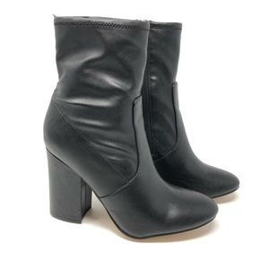 Marc Fisher Black Over The Ankle Boots